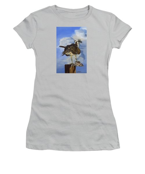 Osprey And A Mullet Women's T-Shirt (Junior Cut) by Phyllis Beiser