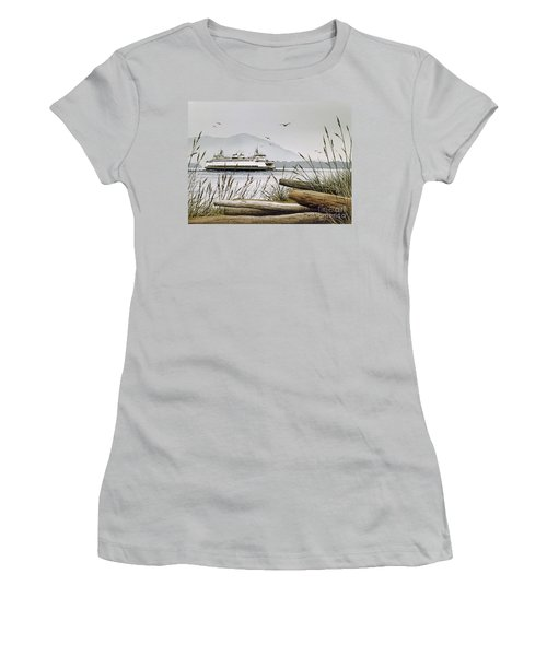 Pacific Northwest Ferry Women's T-Shirt (Athletic Fit)