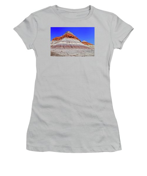 Women's T-Shirt (Junior Cut) featuring the photograph Painted Desert National Park by Bob and Nadine Johnston