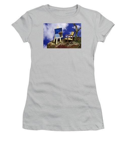 Painting Women's T-Shirt (Athletic Fit)