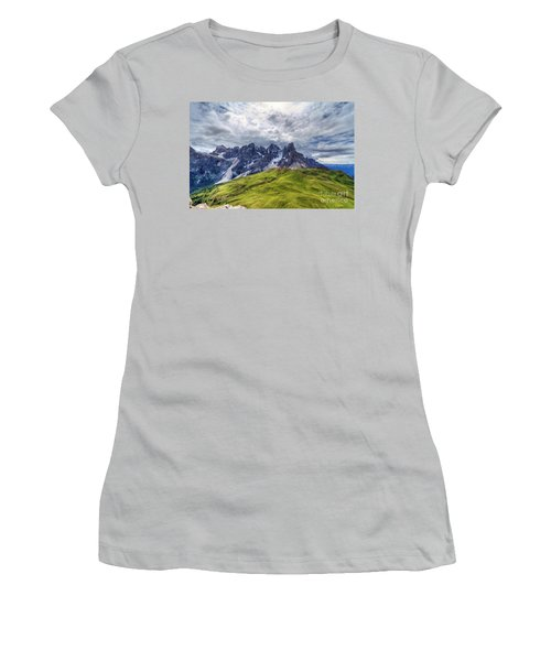 Women's T-Shirt (Junior Cut) featuring the photograph Pale San Martino - Hdr by Antonio Scarpi