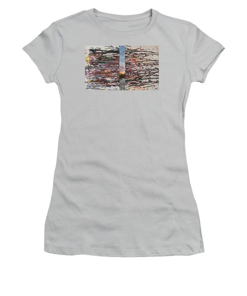 Women's T-Shirt (Junior Cut) featuring the painting Pause by Thomasina Durkay