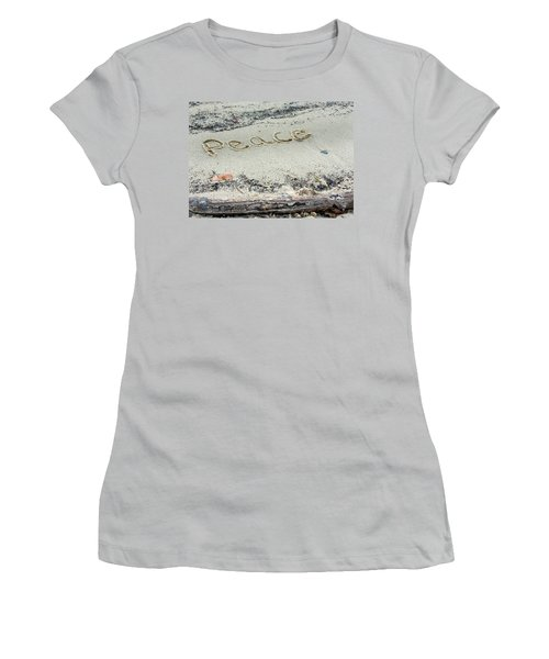 Peace On Earth Women's T-Shirt (Junior Cut) by Melinda Fawver