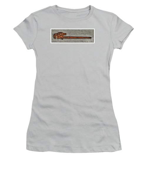 Pipe Wrench Made In U S A Women's T-Shirt (Athletic Fit)