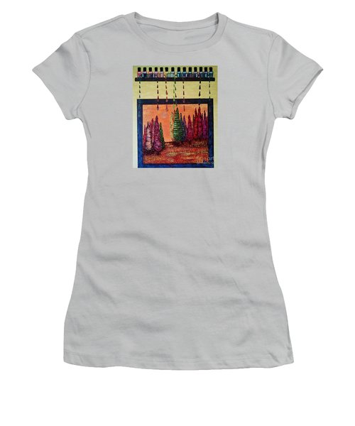 Polished Forest Women's T-Shirt (Junior Cut) by Jasna Gopic