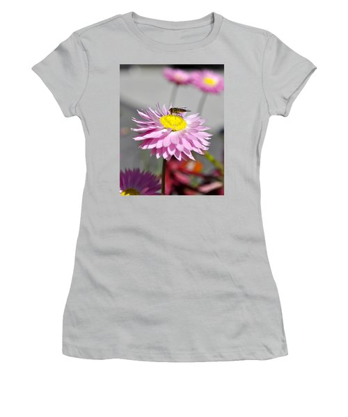 Women's T-Shirt (Junior Cut) featuring the photograph Pollination by Cathy Mahnke