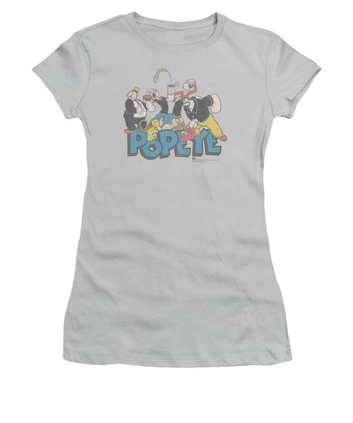 Popeye - The Gang Women's T-Shirt (Athletic Fit)