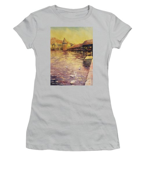 Posing For Tourists Women's T-Shirt (Athletic Fit)