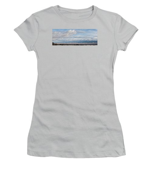 Women's T-Shirt (Junior Cut) featuring the photograph Power From The Wind In Western Skies by Michael Flood