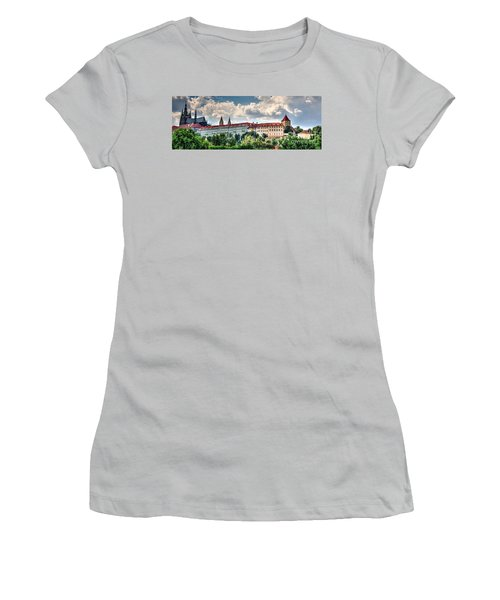 Women's T-Shirt (Junior Cut) featuring the photograph Prague Castle by Joe  Ng