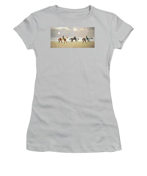 Princeteau's Riders On The Beach At Dieppe Women's T-Shirt (Athletic Fit)