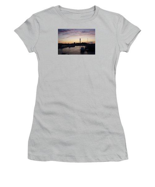 Provincetown Sunset Women's T-Shirt (Junior Cut) by Robert Nickologianis