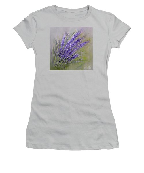 Purple Lavender Summer Women's T-Shirt (Athletic Fit)