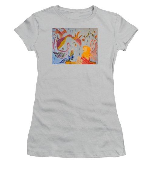 Rain Dragon Women's T-Shirt (Junior Cut) by Meryl Goudey