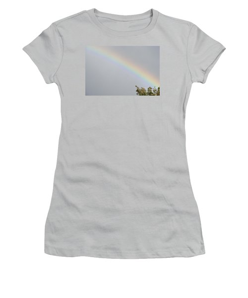 Women's T-Shirt (Junior Cut) featuring the photograph Rainbow After The Rain by Barbara Griffin