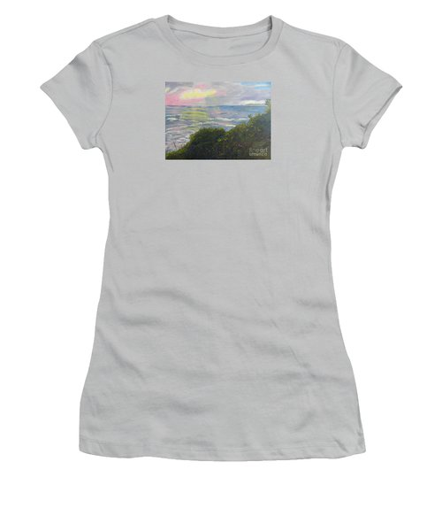 Rays Of Light At Burliegh Heads Women's T-Shirt (Athletic Fit)