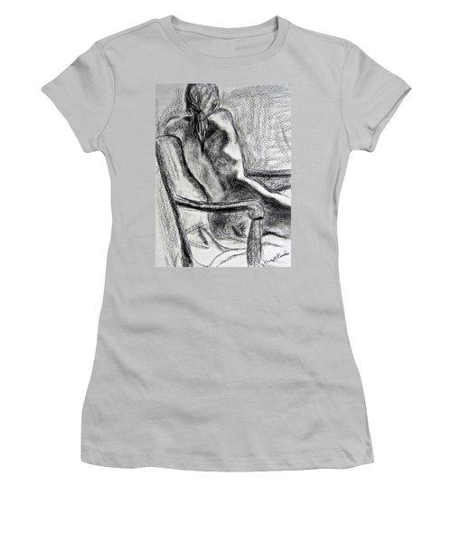 Reaching Out Women's T-Shirt (Junior Cut) by Kendall Kessler