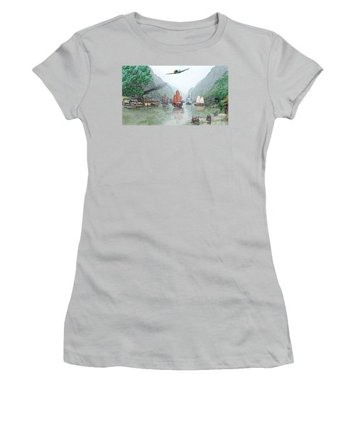 Refugees On The Yangtze Women's T-Shirt (Athletic Fit)
