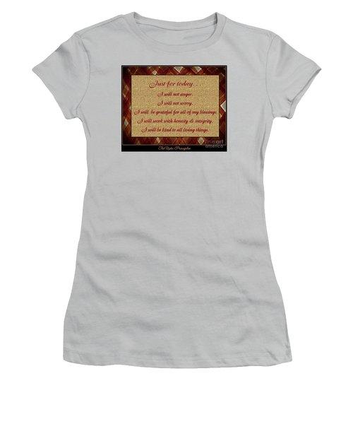 Reiki Principles Women's T-Shirt (Athletic Fit)