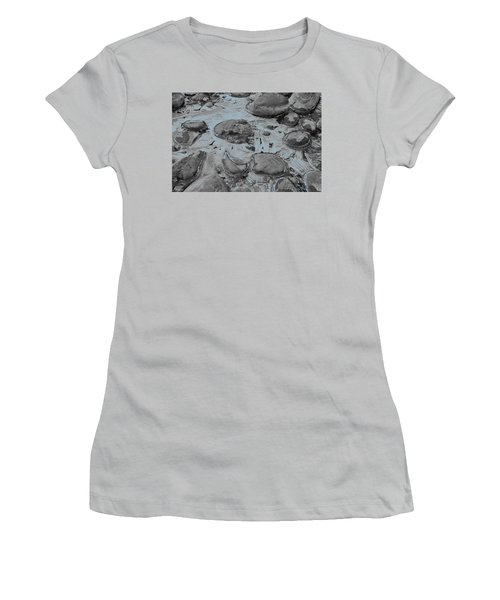 River Ice Blue Women's T-Shirt (Athletic Fit)