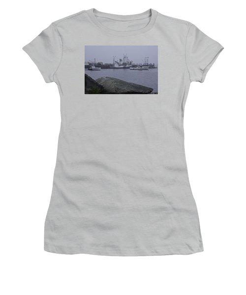 Women's T-Shirt (Junior Cut) featuring the photograph Rockland Me by Daniel Hebard