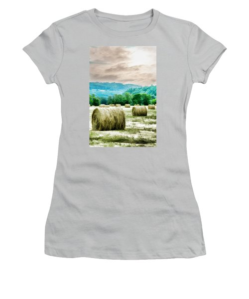 Rolled Bales Women's T-Shirt (Athletic Fit)