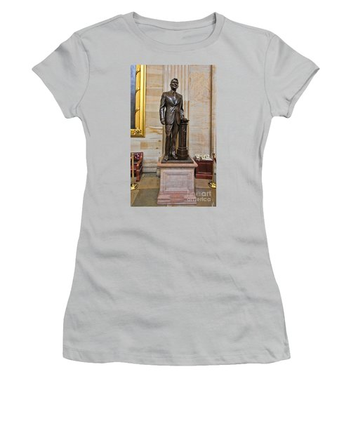 Ronald Regan -  U S Capitol Statuary Hall Women's T-Shirt (Junior Cut) by Allen Beatty