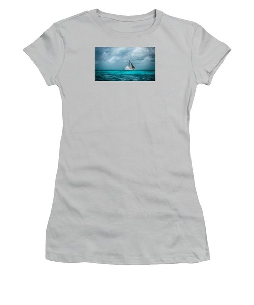 Sailing In Blue Belize Women's T-Shirt (Athletic Fit)