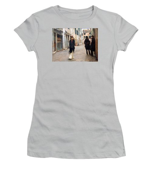 Sargent's Street In Venice Women's T-Shirt (Athletic Fit)