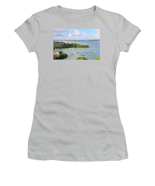 Scenic Overlook Of Cruz Bay St. John Usvi Women's T-Shirt (Athletic Fit)