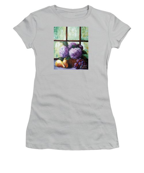 Women's T-Shirt (Junior Cut) featuring the painting Scent Of Memories by Vesna Martinjak