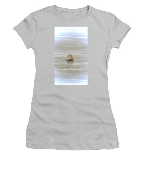 Schooner 1 Women's T-Shirt (Junior Cut) by Joe Faherty