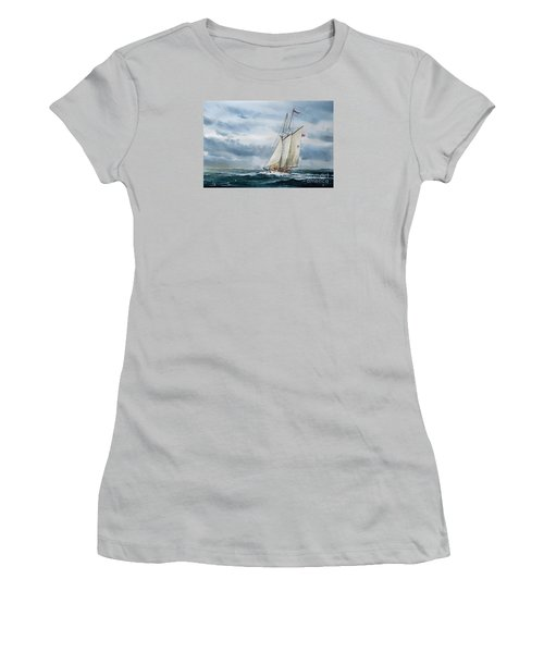 Schooner Adventuress Women's T-Shirt (Junior Cut) by James Williamson