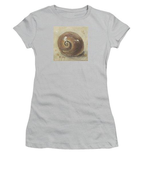 Seashell Beach Moon Shell Snail  Women's T-Shirt (Junior Cut) by Mary Hubley