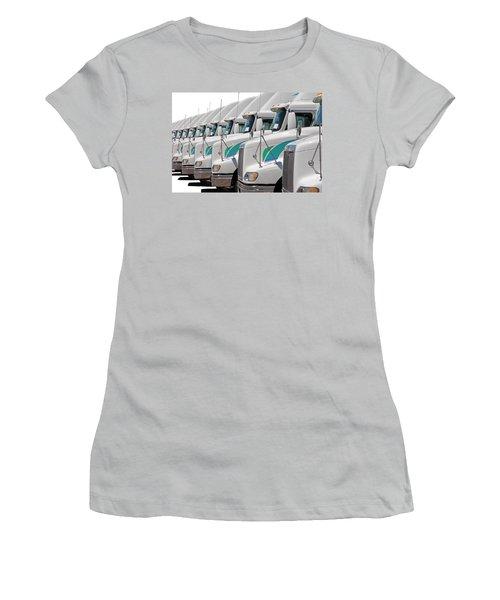 Semi Truck Fleet Women's T-Shirt (Athletic Fit)