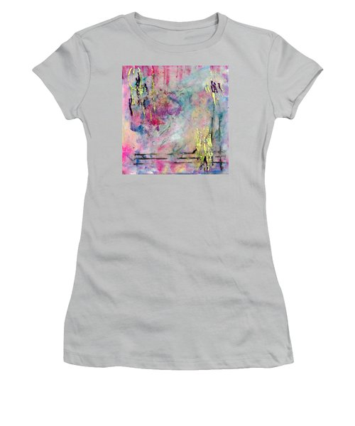 Serene Mist Encaustic Women's T-Shirt (Athletic Fit)