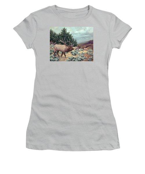 Showdown Women's T-Shirt (Junior Cut) by Craig T Burgwardt