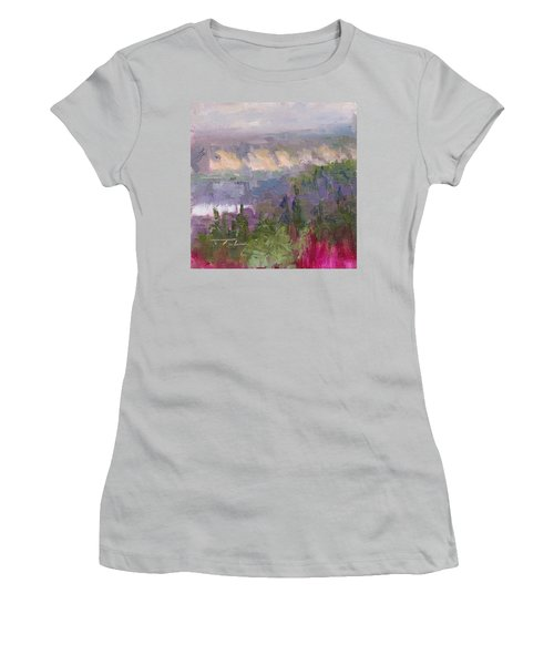 Silver And Gold - Matanuska Canyon Cliffs River Fireweed Women's T-Shirt (Athletic Fit)