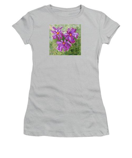 Simple Flowers Women's T-Shirt (Athletic Fit)