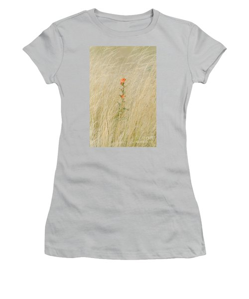 Simple Splash Of Color Women's T-Shirt (Athletic Fit)