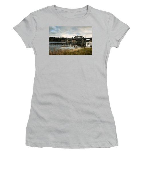 Siuslaw River Bridge Women's T-Shirt (Athletic Fit)
