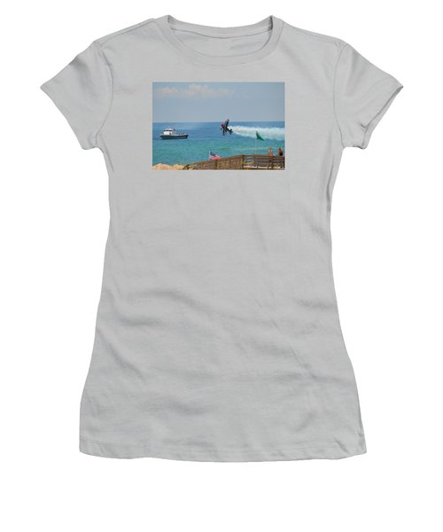 Women's T-Shirt (Junior Cut) featuring the photograph Skip Stewart Extreme Low-level Practice by Jeff at JSJ Photography