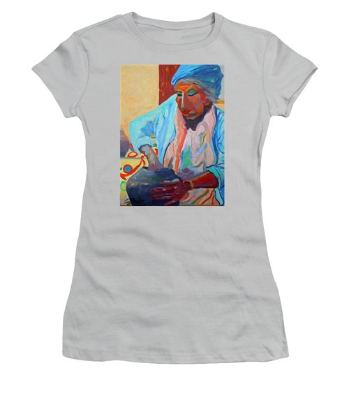 Women's T-Shirt (Junior Cut) featuring the painting Sky City - Marie by Francine Frank