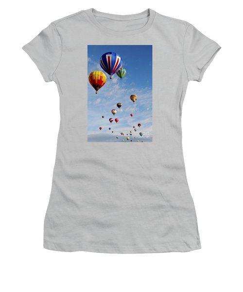 Women's T-Shirt (Junior Cut) featuring the photograph Skyward Bound by Gina Savage