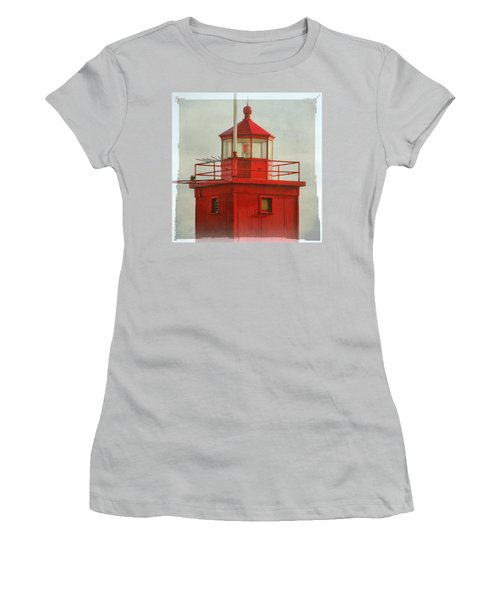 Snapshot Of Red Women's T-Shirt (Athletic Fit)