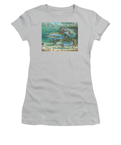Snook Attack In0014 Women's T-Shirt (Athletic Fit)