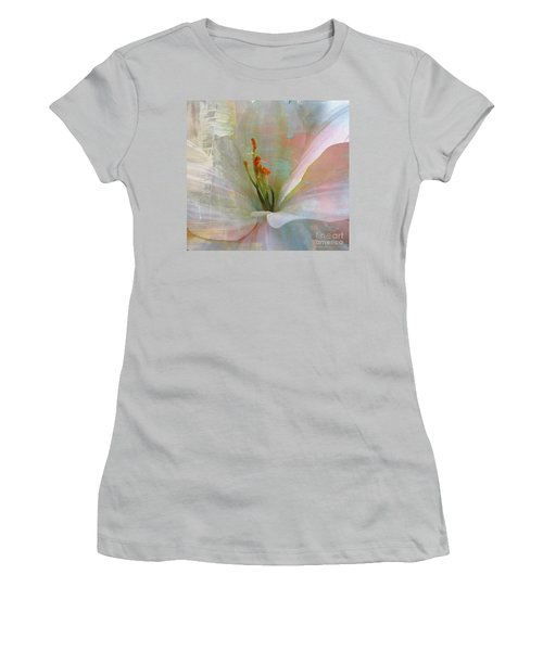 Women's T-Shirt (Junior Cut) featuring the photograph Soft Painted Lily by Judy Palkimas