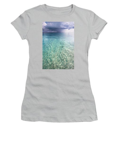 Somewhere Is Rainy. Maldives Women's T-Shirt (Junior Cut) by Jenny Rainbow