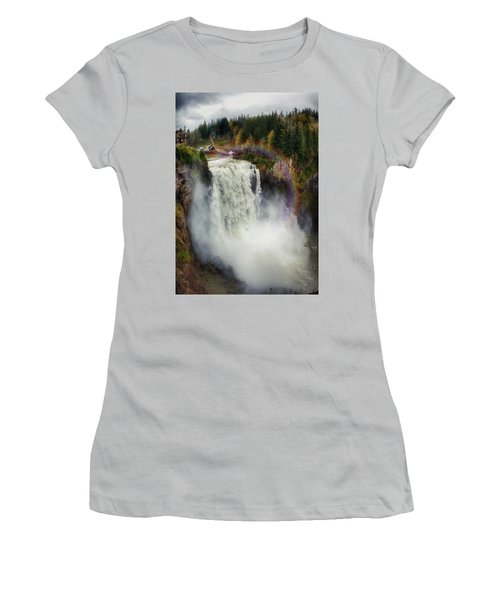 Somewhere Over The Falls Women's T-Shirt (Junior Cut) by James Heckt