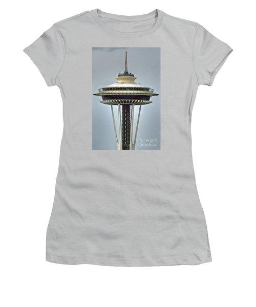 Space Needle Tower Seattle Washington Women's T-Shirt (Junior Cut)